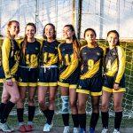soccer group of girls smiling