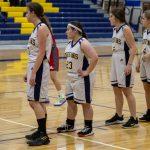 girls waiting for inbound basketball