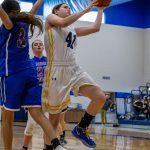 girl shooting basketball