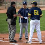 coaches and umpire talk pre game