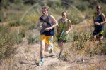 Boy running cross country