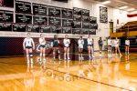volleyball team pregame