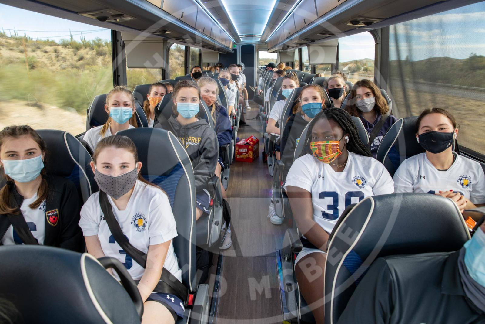 girls on bus sitting