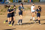 girls celebrate goal