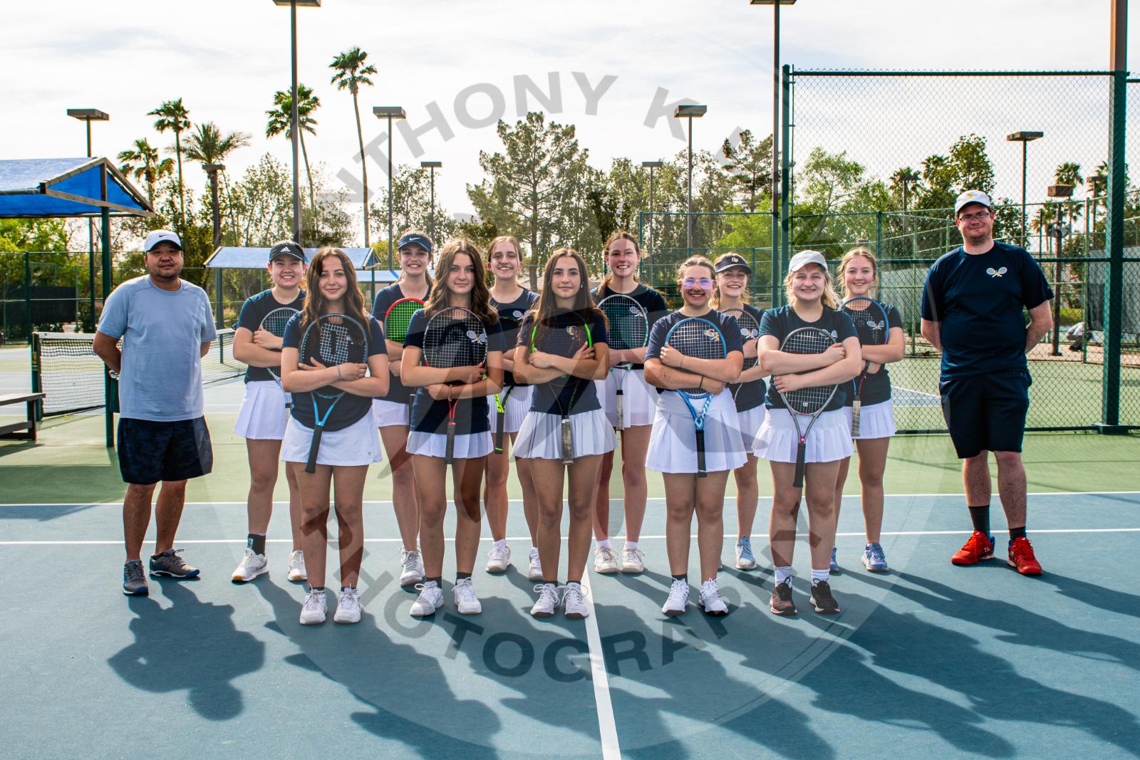 girls tennis team picture
