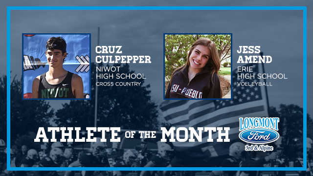 And the Longmont Ford November Athlete of the Month is….