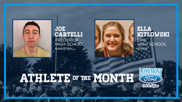 And the Longmont Ford December Athlete of the Month is….