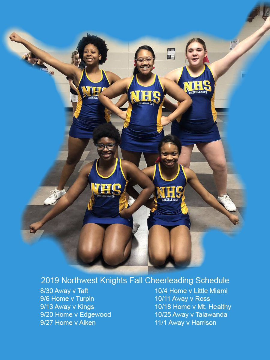 2019 Northwest Knights Fall Cheerleading Schedule