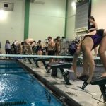 Muncie Central High School Girls Varsity Swimming beat New Castle High School 104-67