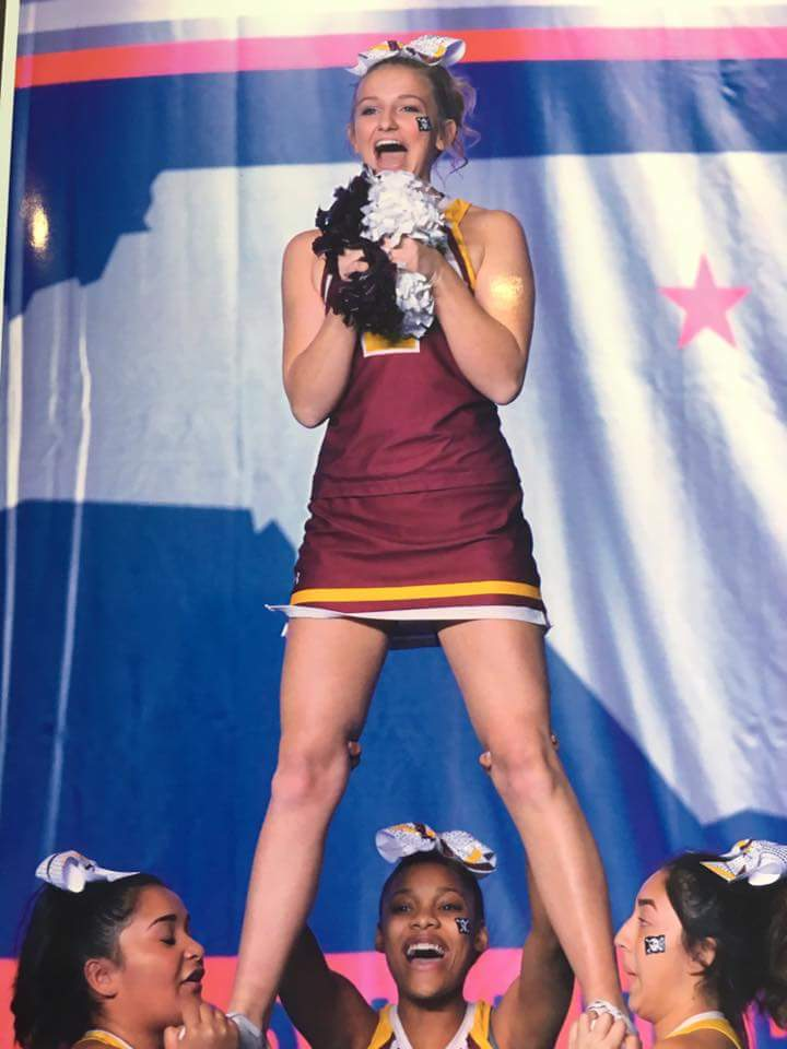 Williamson is First Pirate to Make NCCCA All-State Cheer