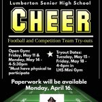 Pirate Cheerleading Tryouts for Football Season and Competition Team
