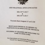 Upcoming Open Gym and Tryout Dates for VolleyBall