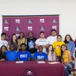 Johnson and Brock Sign to Wrestle at Pratt (Photos)