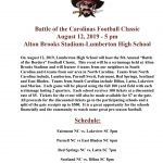 Fifth Annual Battle of the Carolinas