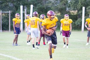 Varsity Pirates Preparing for 1st Home Game Friday Night (Practice photos 8/20/19)