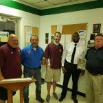 Pirate Athletics Presents Lumberton Rescue with Award