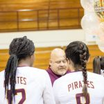 Lady Pirate Volleyball's Presentation to  Coach Register Senior Night