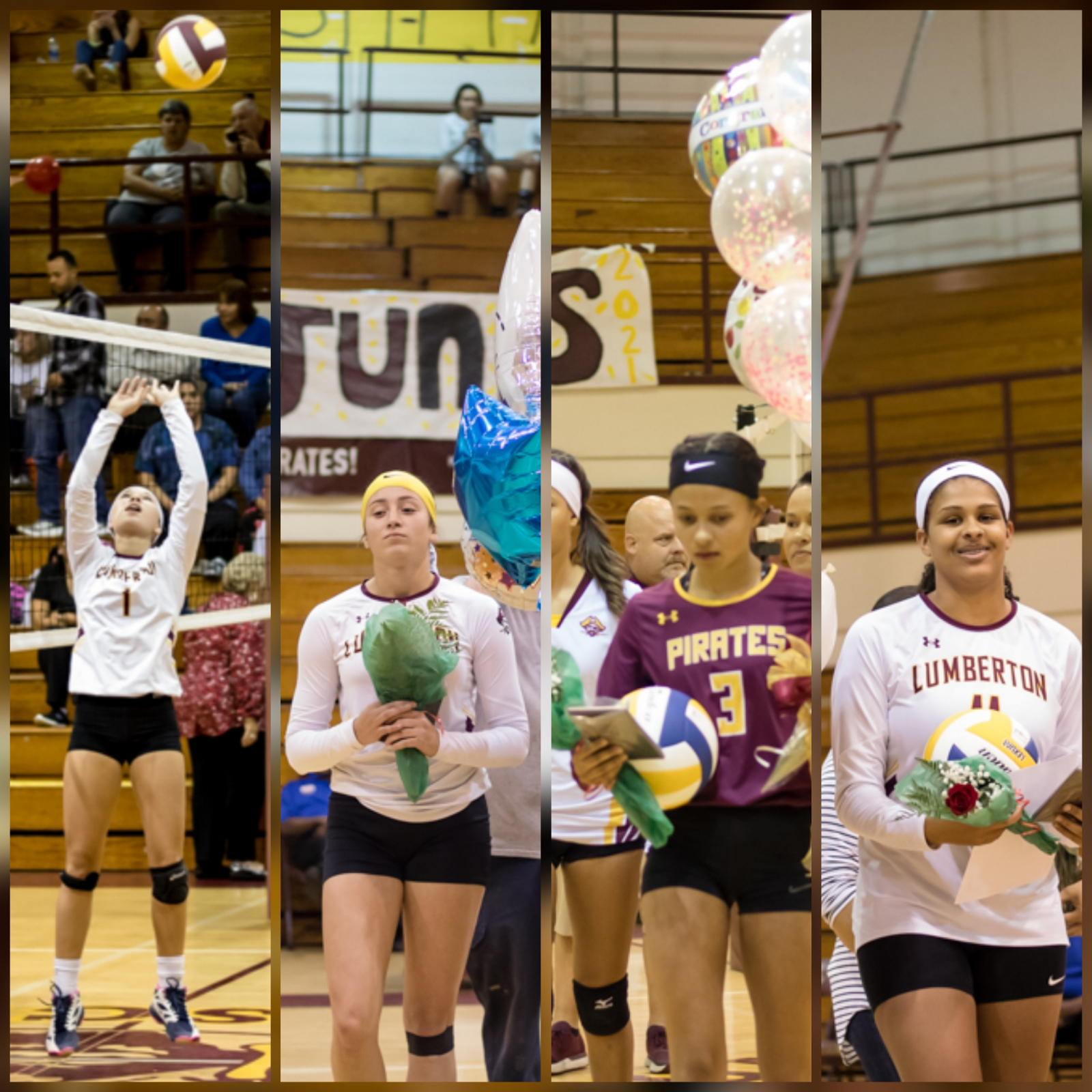 Four Lady Pirates Named to All-County Volleyball Team