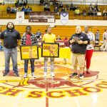 Kelly and McLaurin Recognized for 100 Wins (Photos)