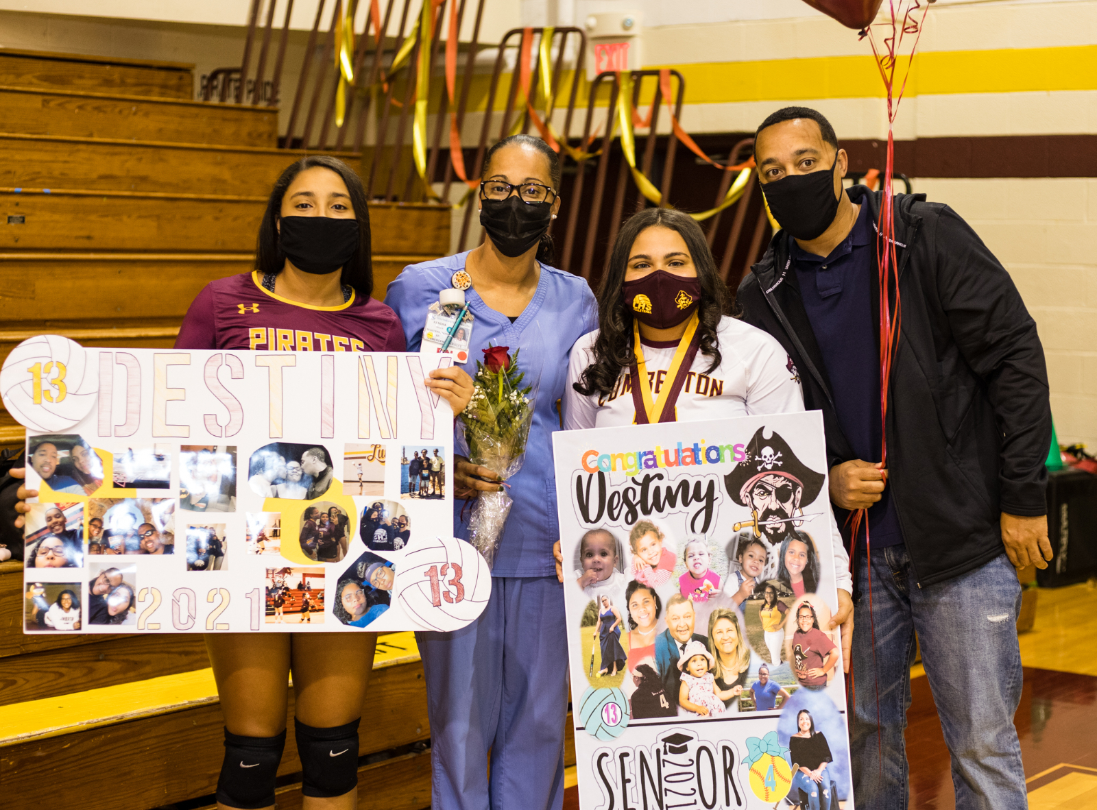 Pirate Volleyball Senior Night Gallery 1 of 3