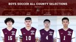Congratulations to the Pirates Boys Soccer All-County Selections!