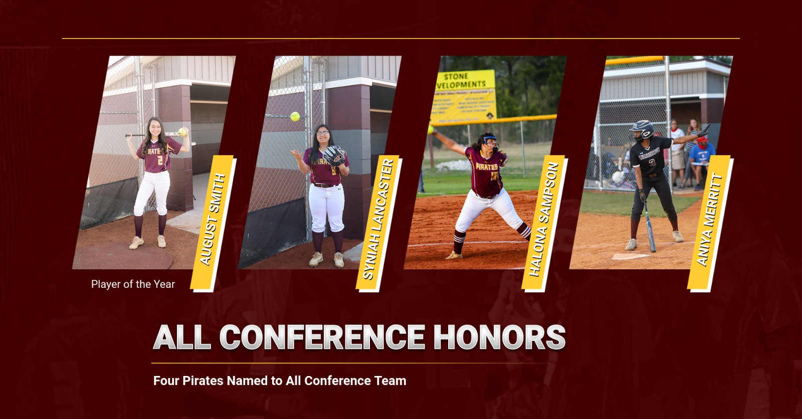 Four Pirates Named to All Conference Softball Team