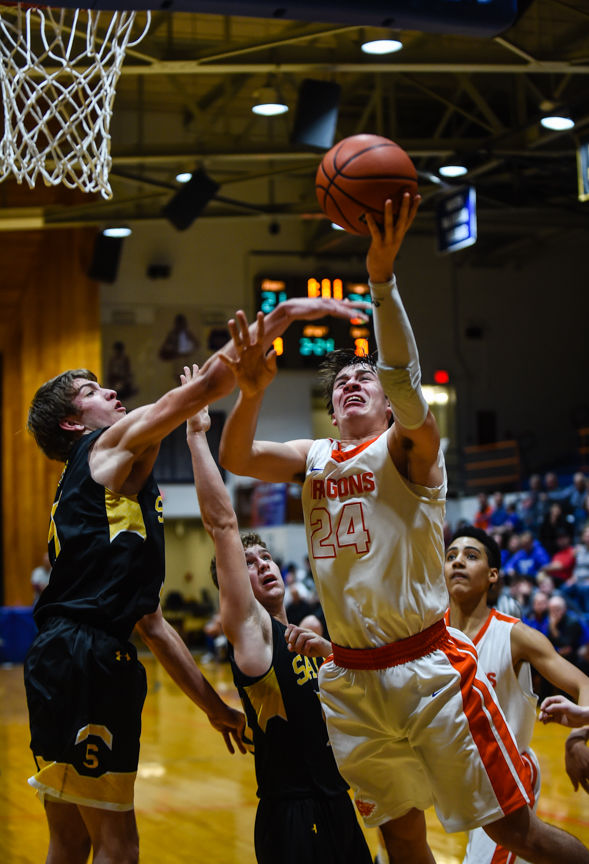 Boys Basketball: Dragons Declaw Panthers, Make it a Clean Sweep of MSC