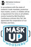 Sports: Fall Sports Mask Mandate