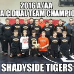 CHAMPIONS!  Tiger Wrestlers Continue Magical Season