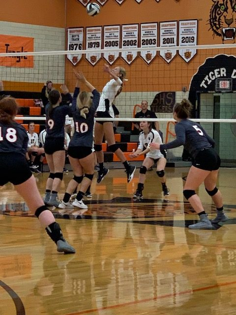 Lady Tigers sweep Caldwell in D-IV Tournament Play