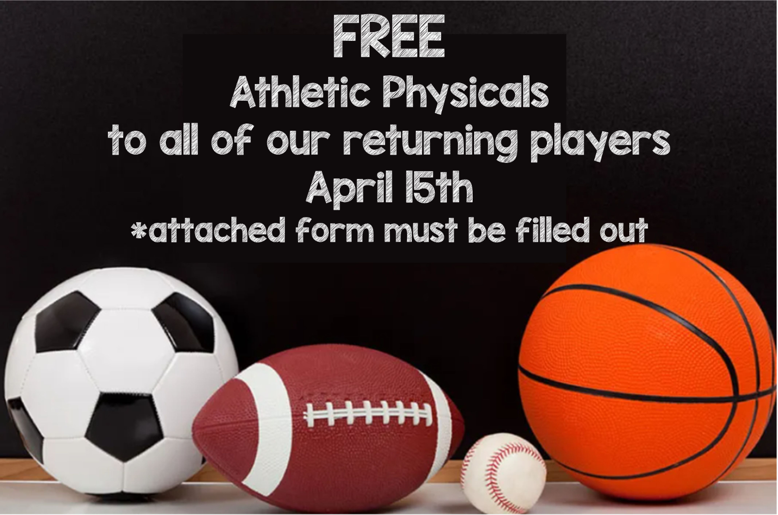 Free Physicals For All Returning Players