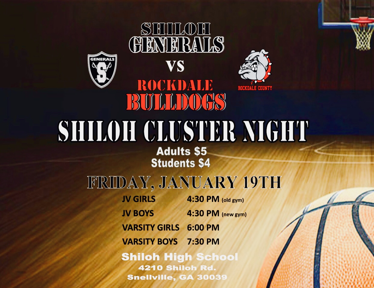 Shiloh Basketball Cluster Night