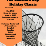 Girls basketball hosting a holiday tournament!