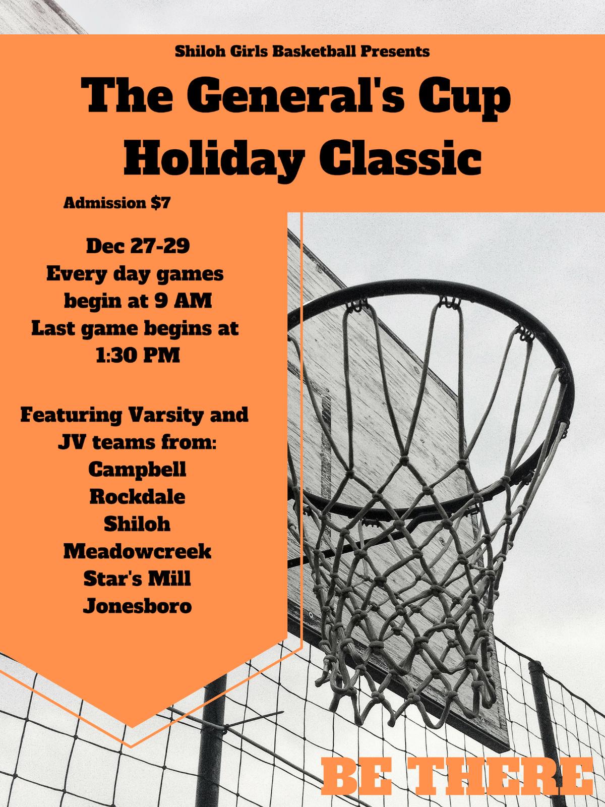Girls basketball hosting a holiday tournament!
