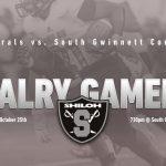 Next Football Game Friday 10/25 @ South Gwinnett