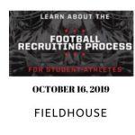 Football recruiting process informational meeting