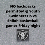 Last regular season basketball game at South Gwinnett!