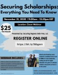 Upcoming Scholarship Webinar