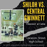 Updated information for tonight's home game vs Central Gwinnett