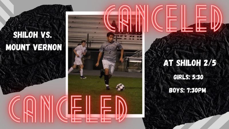 Girls/Boys Soccer vs Mount Vernon Tomorrow Has Been Canceled