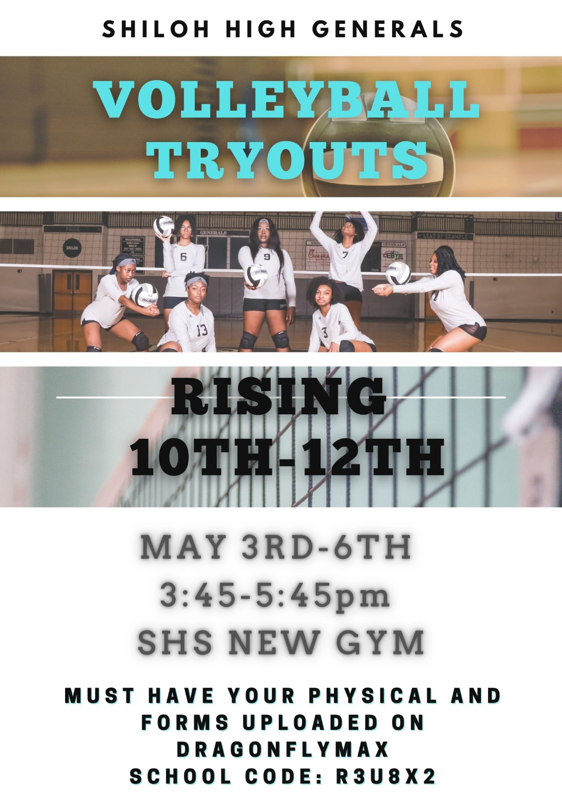 Volleyball Tryout Information For Rising 10th-12th Graders