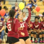 GIRLS' VOLLEYBALL BEATEN IN CIF ROUND ONE