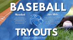 Baseball Tryouts Announced