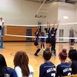Max S. Hayes High School Girls Varsity Volleyball beat Collinwood High School 3-2