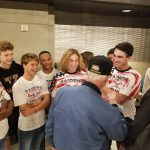 Boys Lacrosse Greets Veterans arriving on Honor Flight