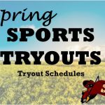 Spring Sports - Tryout Schedule