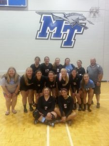 SGC Volleyball attends MTSU camp
