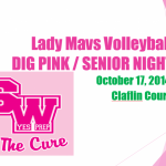 Lady Mavs Senior Night and Dig Pink Volleyball Game