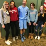 """GREEN or BLUE? """"Mr. Lower showing his support and colors for GREENfield girls soccer!!"""""""