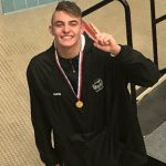 Greenfield's Ben Davis thought he'd be competing for 500 free state title. Two weeks before state, that all changed — and it ended with gold